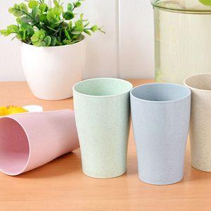 Eco Friendly Gesundes Weizenstroh Biologisch abbaubare Becher, Schale für Wasser, Kaffee, Milch, Saft, Tee (4 Stück)