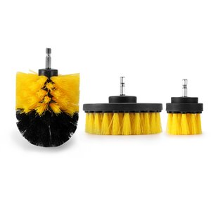 3шт / Set Электрической дрели кисть комплект пластиковой круглая щетки для чистки ковров для стекла автомобилей Шина Nylon Щетки Мощности Scrubber Drill