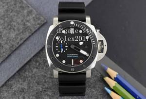 Мужские механические часы Cal.2813 движение Фантазия Модель в 47мм Вращающийся ободок корпус черный каучуковый ремешок Мужские часы Diving