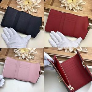 Diseñador Carteras de mujer de cuero Portatarjetas de identificación Monedero delgado Tarjeta bancaria Paquete color 3 con caja M67478