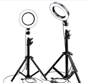 foto dal vivo del video LED dimmerabili Light Ring Photo Studio Camera Fotografia Luce luce per Youtube trucco selfie con treppiede Phone Holder