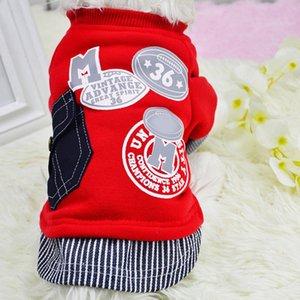 Pet cat plus velvet letter pocket sweater autumn and winter new dog thick warm clothes pet supplies cat coat