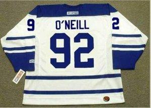 femmes coutume hommes jeunes de # 92 Vintage Jeff O'Neill Maple Leafs de Toronto 2005 CCM Hockey Jersey Taille S-5XL ou sur mesure ne importe quel nom ou numéro