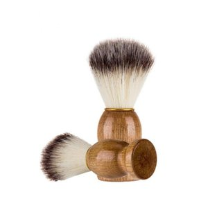 Eco-friendly Barber Salon Shaving Brush Wooden Handle Face Beard Cleaning Men Shaving Razor Brush Cleaning Tools SN4396