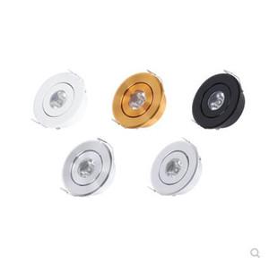 4 Farbe Mini-LED-Spot-Licht Deckenleuchte 1W 3W A85-265V Mini LED Einbaulochgröße 45mm Weinschrank Rampenlicht