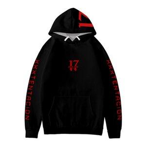 XXXTENTACION neue Mens Hoodies 3D Digital gedruckte Rapper Männer Sweatshirt Herren Mode Sonder Mens-verursachende Kleidung