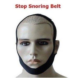Detenga el ronquido Cinturón de soporte de la barbilla Anti ronquido Correa de la barbilla Solución de la mandíbula contra el apnea Ayuda para dormir saludable Dispositivo de neopreno negro BC BH1206