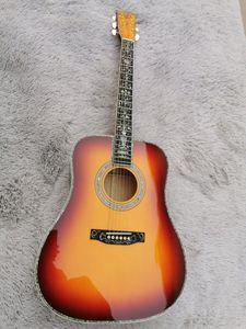 공장에서 만든 민속 어쿠스틱 기타 얼굴 단일 D-45 + 어부 301 일렉트릭 기타