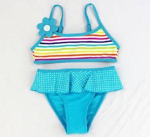 Baby Infant Swimwear Swimsuit Bikini Swim Suit Two Pieces Cartoon Costume Bathers Dress Beachwear For Child 5 Colors