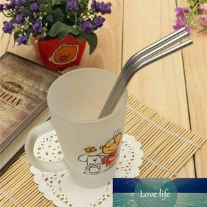 Stainless Straws Drinking Cleaner Brush Metal Straw Stainless Steel Bend With