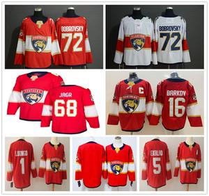 2019 Nuevo Florida Panthers 72 Sergei Bobrovsky Jerseys Hockey 1 Roberto Luongo 5 Aaron Ekblad 16 Aleksander Barkov Red 68 Jaromir Jagr Jersey