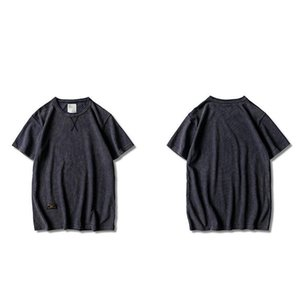 Designer-T-Shirts Sommer Art und Weise O Ansatz zweigt Kleidung Kurzärmlig Male Hommes Tops Pure Color Herren