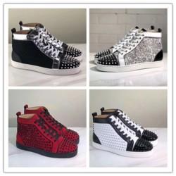 2020 Nuovo di alta qualità inferiore rossa delle scarpe da tennis No Limit piatto di lusso Stampa Argento Pik Pik No Limit borchie e strass RARE graffiti J094