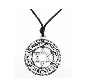 DN021 de style Viking creux étoile Colliers Amulet Pendentifs Pentagram religieux Talisman Charms bijoux vintage pour hommes