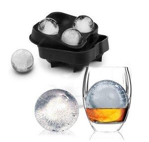 Whisky Bandeja Molde de la bola del molde del molde de ladrillo de la barra redonda accessiories alta calidad Color Negro Hielo Herramientas de la cocina