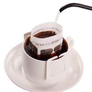 200 шт Портативный капельного кофе порошок Бумажные фильтры Висячие уха Капельное сумка Фильтр Coffeeware Кофе Tool