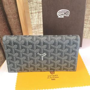 2020 Paris Estilo Mens Famous Men Mulheres homens Carteira longa carteiras Revestido de lona Com PU Leather múltipla longo Carteiras Com Box