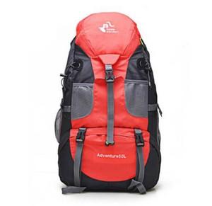 Heißer Verkauf 50L Outdoor Rucksack Camping Tasche Wasserdichte Bergsteigen Wandern Rucksäcke Molle Sporttasche Klettern Rucksack FK0396