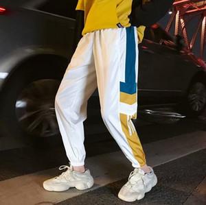 Fashion Designer Mens Pants calças novas com padrão Painéis solto cordão Sport calças casuais nove pontos Sweatpants para Homem Mulher