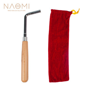 NAOMI Piano Tuning Hammer Straight Bar Soft Maple Handle L-shape Square Wrench Tuner Spanner Tip String Pin Repair Tool # 1103