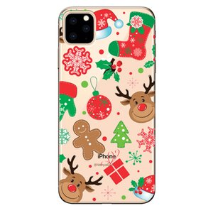 Soft TPU Silicone Phone Cases Coque Merry Christmas Santa Claus Happy New Year for IPhone 11 Pro MAX X XR Coque Shell