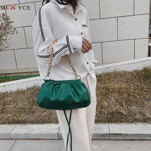 Elegant Women Chain Tote Bag Cloud Leather Shoulder Handbags Female Clutch Purse Popular Simple Female Daily Bag