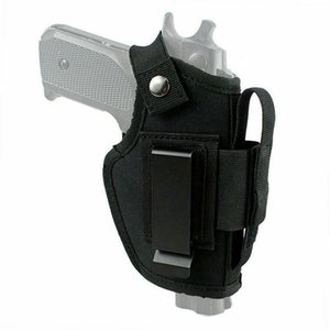 Tactical nylon carry-on holster IWB OWB holster is suitable for most gun models with additional metal clip magazine slot
