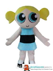 Les filles Powerpuff mascotte costume robe creat vos propres mascottes à arismascots acheter en ligne des mascottes deguisement Mascotte Mascota tenues