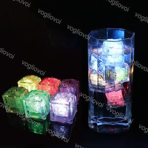 Luzes da noite LED Cubos de gelo Bar Fast Slow Flash Lento Mudança de Cristal Cubo Activado de Água Colorido para Romântico Party Wedding Xmas Presente DHL