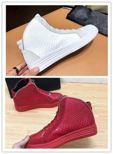 SS18 New Arrive Chaussures Sneaker-Platform Hommes SS1798 Top Stars couche de luxe en cuir de rivet Casual Men Chaussures EUR38-45 hn04