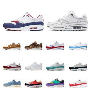 nike air max 1 Meilleur rabais Hommes Femmes Chaussures de course ATMOS NOIR CROC INTERNATIONAL FLAG PACK INFRARED mens formateur respirant chaussures de sport taille 36-45