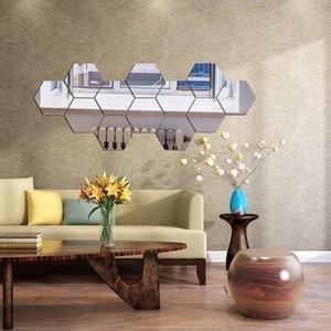 Removível Sala Papel de parede moderno Adesivo Decoração Geometria Decoração Acessórios Abstract Wall Art Decals