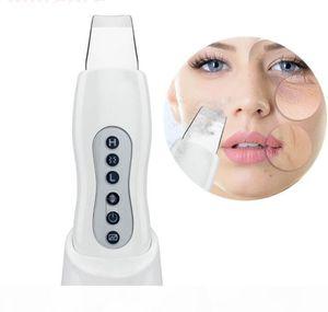 Ultrasonic Face Skin Scrubber Blackhead Acne Removal Facial Vibration Massager Peeling Shovel Exfoliator Clean Machine Microderm