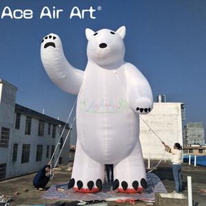 5m de altura amigável inflável mascote urso polar / Standing Bear inflável branco explodir modelo animal para eventos ao ar livre ou decoração