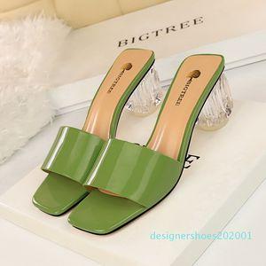 Sıcak satış-terlik şeffaf ayakkabı kalın topuklu kadın terlik yazlık sandaletler kadın zapatos de mujer chaussures femme bütil damskie d01 d01
