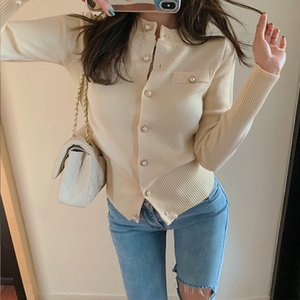 Woherb Style Coréen Pull Femmes Solide Couleur simple boutonnage Cardigan Manteaux Mode Vintage New Tricots Sueter Mujer 90740