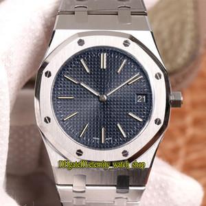 Топ-версия 39мм XF сверхтонкими 8.5mm 15202 15400 синий циферблат Cal.2121 автоматические механические мужские часы 904L стальной корпус Стальной браслет Спортивные часы