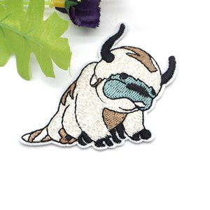 2pcs lot Avatar The Last Airbender Patch Appa Creative Embroidery Patch for Clothes Iron on Patch DIY Accessories Sticker C130