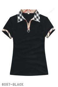 2019 Polos moda feminina casual polo camisa das senhoras camisa polo 8-color s-2XL Camisetas blusa Mujer camiseta B022