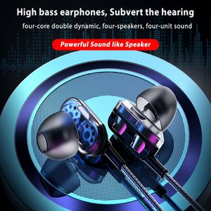 cases2010 Wired In-ear Stereo Headphones Deep Bass Earphone Sports Headset Smart Mobile Phone Music Earbuds With Mic Headphone Earphones