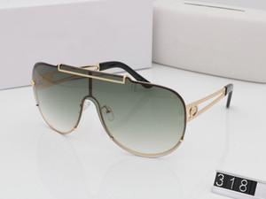 VE318 Homens Do Vintage Da Marca óculos de Sol Grande Rosto Proteção UV Estilo Steampunk Retro Couro Médio Medusa Estilo Piloto Quadro Vem Com Caso