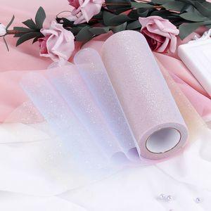 15cm * 10 yards DIY grenadine dress flicker yarn for wedding home party stage decoration accessories iridescence gauze