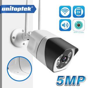 HD 5MP 3.6mm Wi-Fi IP-камера ONVIF 1080P Беспроводные Проводные CCTV Цилиндрическая камера Открытый двухсторонняя слот Аудио TF карта Макс 64G ИК 20м P2P iCsee