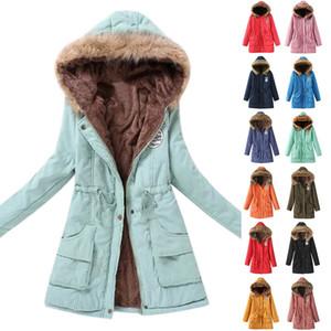 NIBESSER 2019 Parka Frauen Jacke Frauen Wintermantel Warm mit Kapuze Parka Weibliche Jacke Long Coat Parkas 16 Farbe Tops