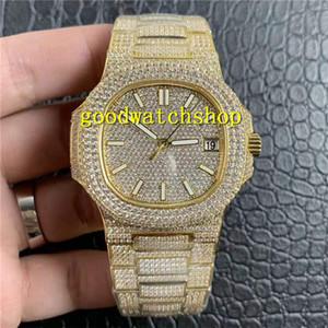 R8 V2 Nautilus 5719 Reloj para hombre Cal.324SC automática del diamante del reloj de lujo 28800 vph zafiro de 18 quilates de oro de acero inoxidable a prueba de agua luminosa