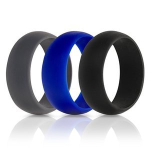 3Pcs Set Silicone Finger Ring Size 6-12 Flexible Hypoallergenic Crossfit Engagement Army Band Rubber Wedding Engagement Ring