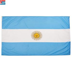 Digitaldruck Argentinien Flagge 90 x 150 cm Polyester National Country Flag Banner mit zwei Ösen