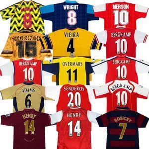 Retro Bergkamp HENRY camiseta de fútbol 91 94 96 97 98 01 02 04 05 06 07 08 HIGHBURY antiguo maillot Gunner camisa más antiguo