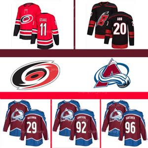 Colorado Avalanche MacKinnon Formalar Gabriel Landeskog Rantanen Carolina Hurricanes Aho Staal Williams Jeff Skinner Svechnikov NHL forması