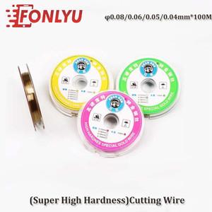 Força 100m * 0,08 milímetros 0,06 milímetros 0,05 milímetros 0,04 milímetros liga molibdênio fio de aço linha de corte fio LCD Screen Display Separator Repair